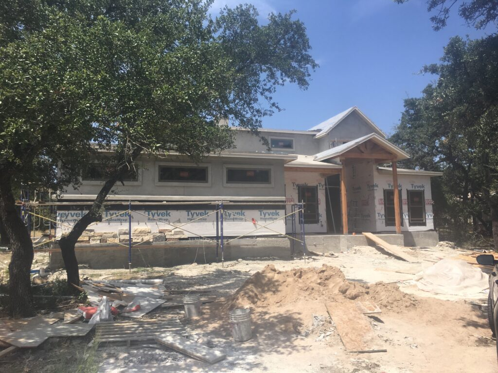 Stucco dream home in progress. A beautiful Owner Managed Homes build almost complete.